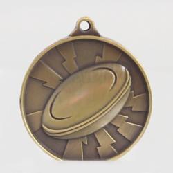 Lightning Rugby Medal 55mm Gold