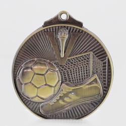 Embossed Soccer Medal 52mm Gold
