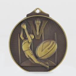 Embossed Aussie Rules Medal 52mm Gold