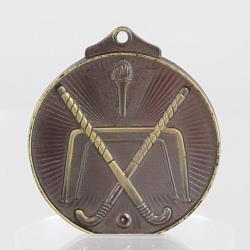 Embossed Hockey Medal 52mm Gold