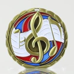 Stained Glass Music Medal 65mm