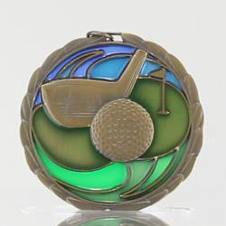 Stained Glass Golf Medal 64mm
