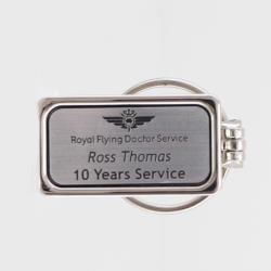 Engraved Silver Keyring