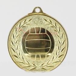 Wreath Netball Medal 50mm Gold