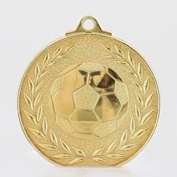 Wreath Soccer Medal 50mm Gold