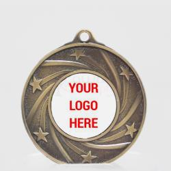Galaxy Personalised Medal 50mm Gold