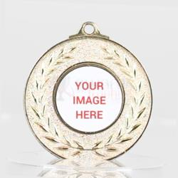 Wreath Personalised Medal 50mm Gold