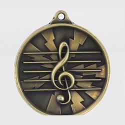 Lightning Music Medal 55mm Gold