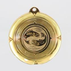 Deluxe Fish Medal 50mm Gold