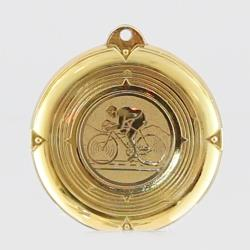 Deluxe Road Cycling Medal 50mm Gold