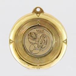 Deluxe Motorsport Medal 50mm Gold