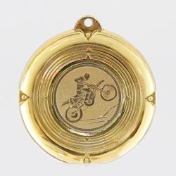 Deluxe Motorcross Medal 50mm Gold