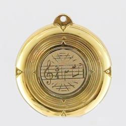 Deluxe Music Medal 50mm Gold