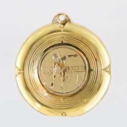Deluxe Tenpin Female Medal 50mm Gold