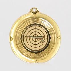Deluxe Pistol Medal 50mm Gold