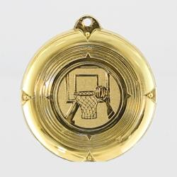 Deluxe Basketball Medal 50mm Gold
