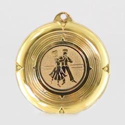 Deluxe Ballroom Dance Medal 50mm Gold