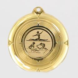 Deluxe Gymnastics Female Medal 50mm Gold