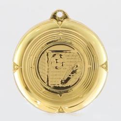 Deluxe Soccer Medal 50mm Gold