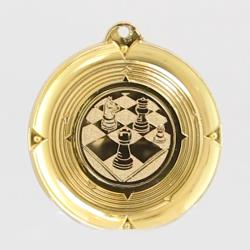 Deluxe Chess Medal 50mm Gold