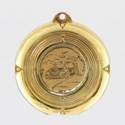 Deluxe Rally Car Medal 50mm Gold