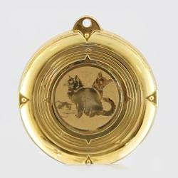 Deluxe Cat Medal 50mm Gold