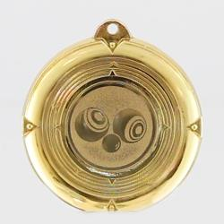 Deluxe Lawn Bowls Medal 50mm Gold