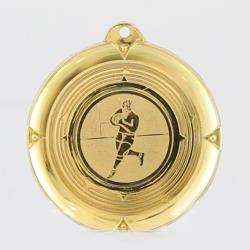 Deluxe Rugby Medal 50mm Gold