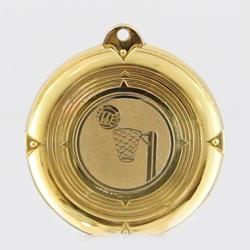 Deluxe Netball Medal 50mm Gold