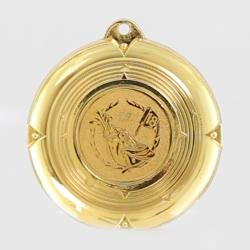 Deluxe Golf Medal 50mm Gold
