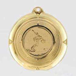 Deluxe Male Swimming Medal 50mm Gold