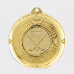 Deluxe Hockey Medal 50mm Gold
