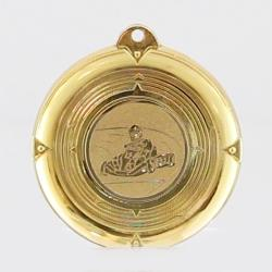 Deluxe Go Karting Medal 50mm Gold