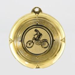 Deluxe Motorbike Medal 50mm Gold