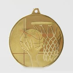 Glacier Basketball Medal 50mm Gold