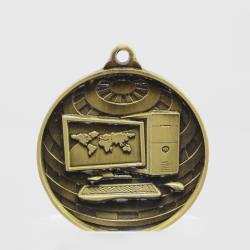 Global Computer Medal 50mm Gold