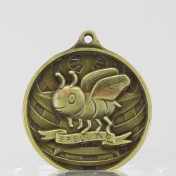 Global Spelling Medal 50mm Gold