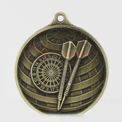 Global Darts Medal 50mm Gold