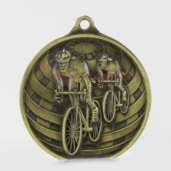 Global Cycling Medal 50mm Gold