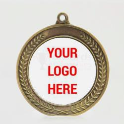 Heavyweight Wreath Personalised Medal 70mm Gold