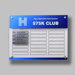 Clarity Acrylic Honour Board (Half Size)