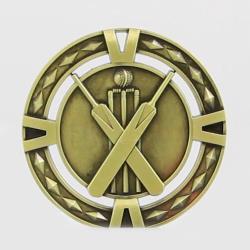 Cutout Cricket Medal 60mm Gold