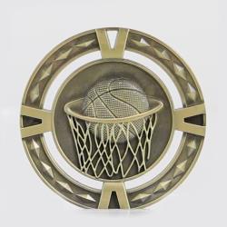 Cutout Basketball Medal 60mm  Gold