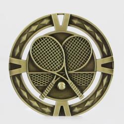 Cutout Tennis Medal 60mm  Gold