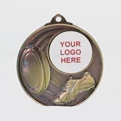 Swish Personalised Rugby Medal 50mm Gold