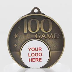 Personalised 100 Games Medal 50mm