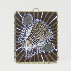 Lynx Medal Badminton 75mm