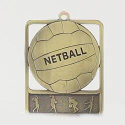 Silhouette Series Netball 60mm Gold
