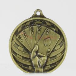 Global Poker Medal 50mm Gold