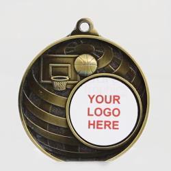 Global Basketball Logo Medal 50mm Gold